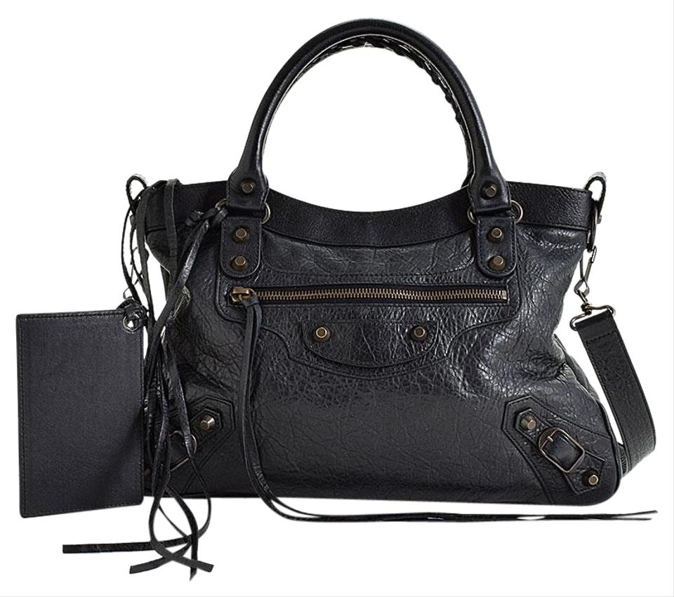 bc32e35b0ace Balenciaga Classic Hardware Town Black Lambskin Leather Cross Body ...