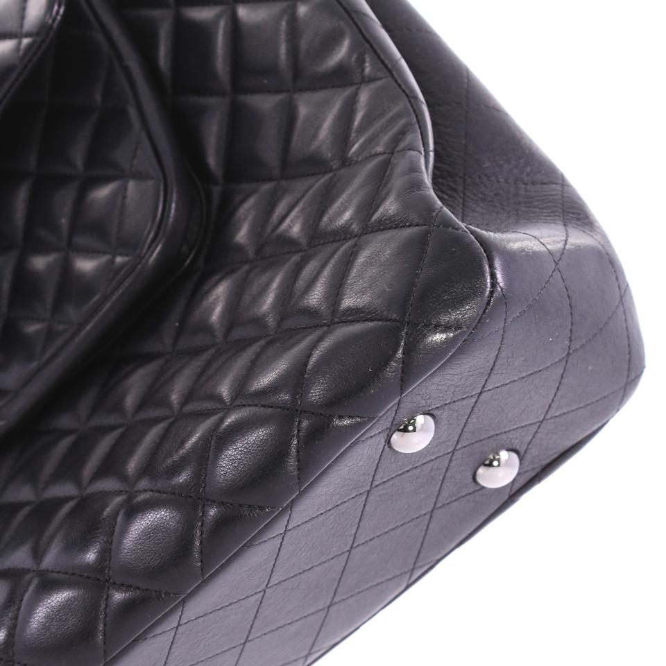 c76a8607053e Chanel Shopping Tote Classic Flap Quilted Large Black Lambskin Leather Tote  - Tradesy