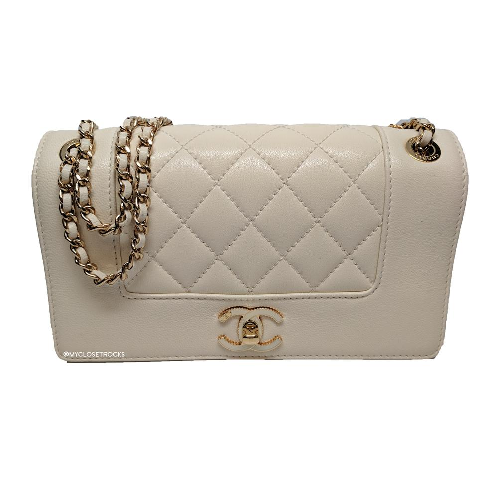 4214b19941ca Chanel Mademoiselle Classic Flap Vintage Cream Lambskin Shoulder Bag ...