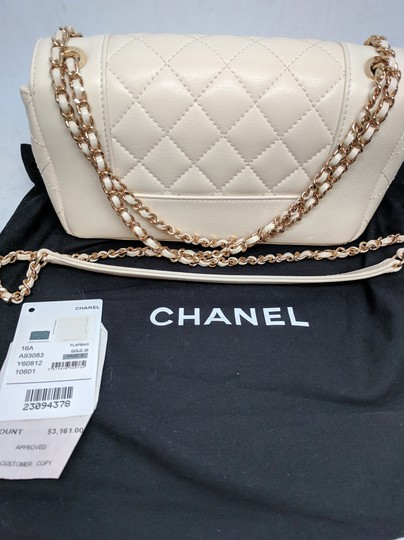 Chanel Mademoiselle Vintage Flap White Shoulder Bag Image 1