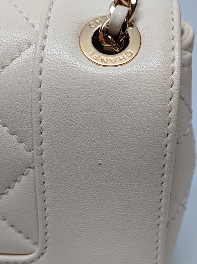 Chanel Mademoiselle Vintage Flap White Shoulder Bag Image 9