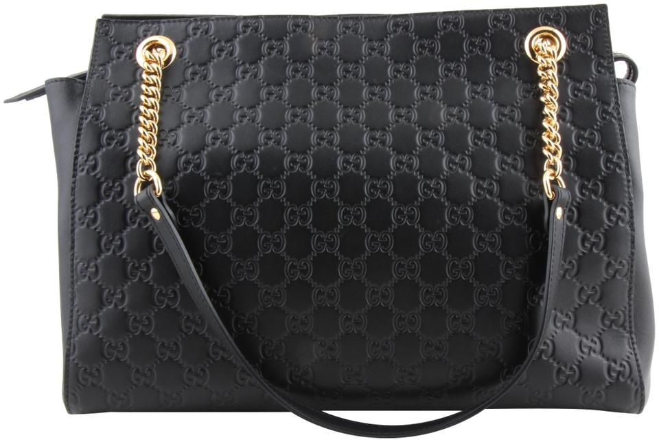 e6d32e2f0 Gucci Guccissima Signature Black Leather Shoulder Bag - Tradesy