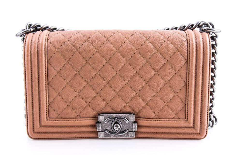 cbca88cf03752e Chanel Boy Quilted Medium Flap Brown Leather Shoulder Bag - Tradesy