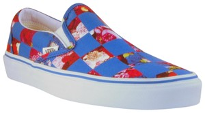 Opening Ceremony Checkered Canvas Limited Edition Imported Sneaker Blue Flats