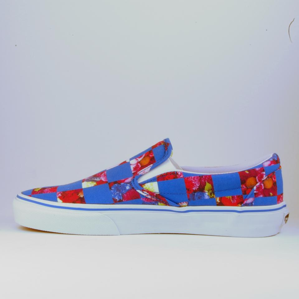 7bd459b3f07 Opening Ceremony Blue Limited Edition Vans Royal Checker Slip On Flats Size  US 9 Regular (M