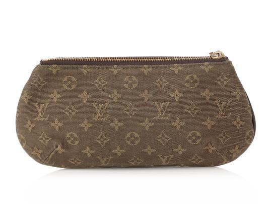 Louis Vuitton Brown Lv Lv.q0122.08 Gold Hardware Anne Sophie Green Clutch Image 3