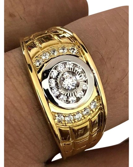 Preload https://img-static.tradesy.com/item/24899013/men-s-14k-gold-and-real-solid-925-silver-diamond-iced-out-size-7-8-ring-0-1-540-540.jpg