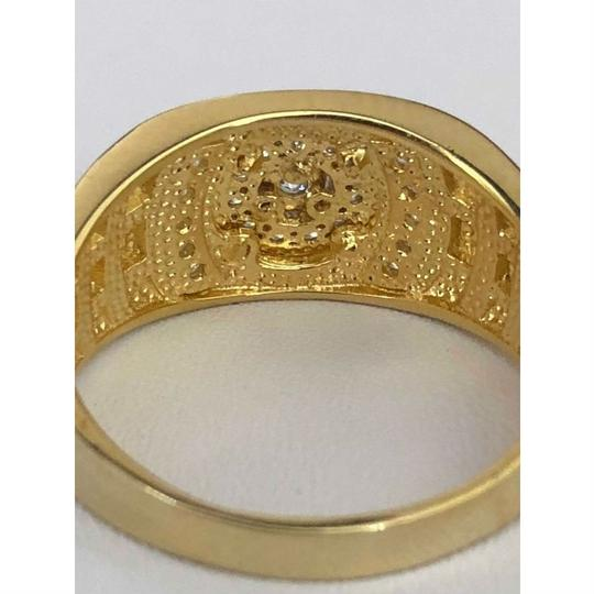 Harlembling Men's 14k Gold & Real Solid 925 Silver Diamond RING Iced Out Size 7 8 Image 5