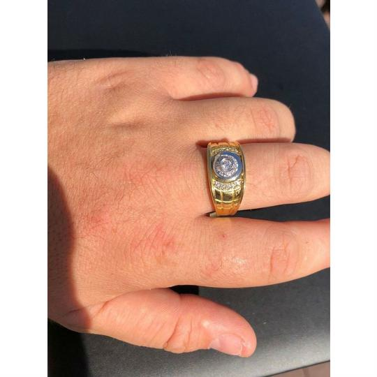 Harlembling Men's 14k Gold & Real Solid 925 Silver Diamond RING Iced Out Size 7 8 Image 6