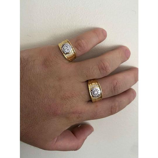 Harlembling Men's 14k Gold & Real Solid 925 Silver Diamond RING Iced Out Size 7 8 Image 7