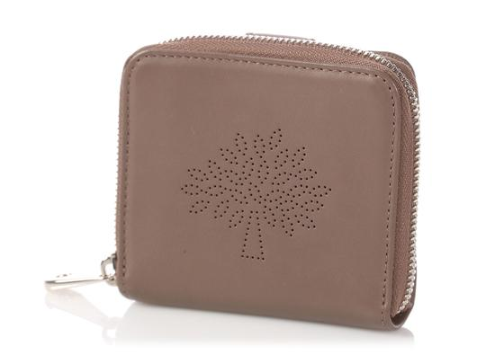 Mulberry Taupe Calfskin Blossom Zip Around Purse Wallet Image 1