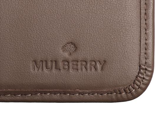Mulberry Taupe Calfskin Blossom Zip Around Purse Wallet Image 10