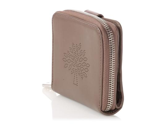Mulberry Taupe Calfskin Blossom Zip Around Purse Wallet Image 2