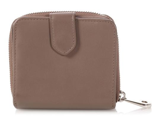 Mulberry Taupe Calfskin Blossom Zip Around Purse Wallet Image 3