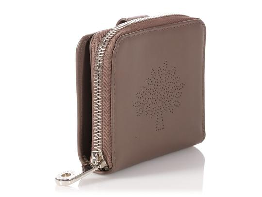 Mulberry Taupe Calfskin Blossom Zip Around Purse Wallet Image 4