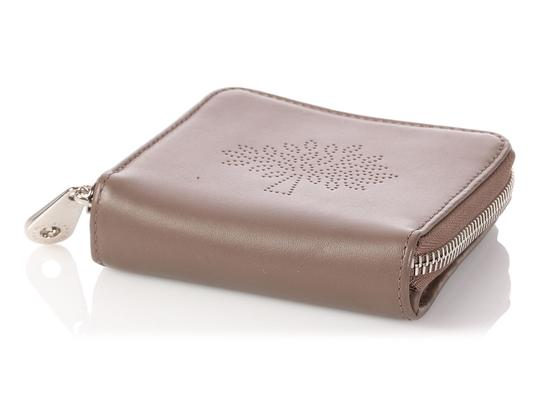 Mulberry Taupe Calfskin Blossom Zip Around Purse Wallet Image 5