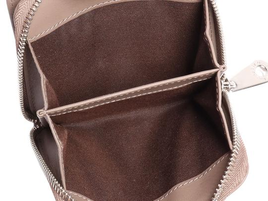Mulberry Taupe Calfskin Blossom Zip Around Purse Wallet Image 8