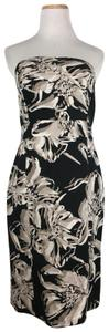 Banana Republic short dress Black & White Strapless Floral Cocktail on Tradesy