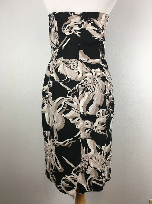 Banana Republic short dress Black & White Strapless Floral Cocktail on Tradesy Image 2