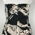 Banana Republic short dress Black & White Strapless Floral Cocktail on Tradesy Image 4