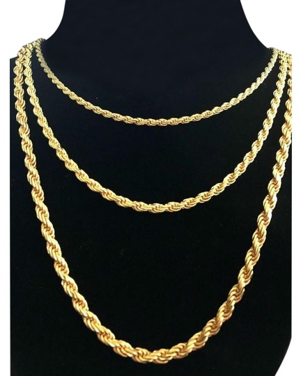 Preload https://img-static.tradesy.com/item/24899054/men-s-14k-gold-over-real-solid-925-silver-rope-chain-made-in-italy-0-1-540-540.jpg