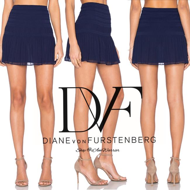 Diane von Furstenberg Mini Skirt navy blue Image 4