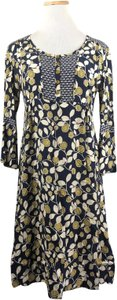 Green & Navy Blue Maxi Dress by Boden Button Front Tunic Boho