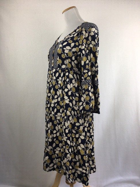 Green & Navy Blue Maxi Dress by Boden Button Front Tunic Boho Image 1