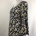 Green & Navy Blue Maxi Dress by Boden Button Front Tunic Boho Image 3