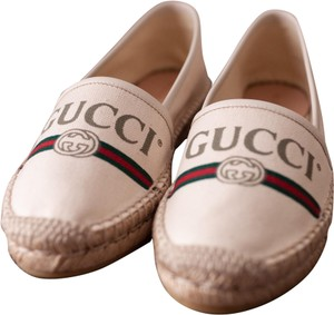 c1d915e93856 Gucci White Floral Embroidered Leather Ace Low Top Sneakers Flats ...
