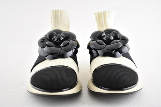 Chanel Trainer Sneaker Runway Flat Ivory Athletic Image 3
