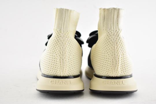 Chanel Trainer Sneaker Runway Flat Ivory Athletic Image 8