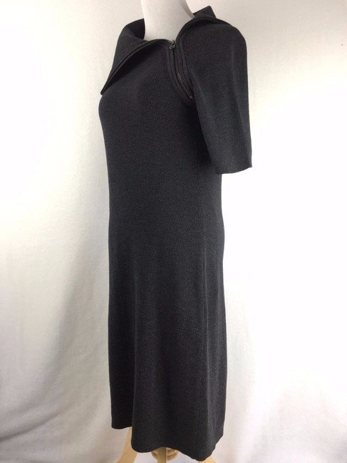 Calvin Klein short dress Black Modest Zippered Cowlneck on Tradesy Image 2
