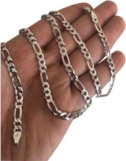 Preload https://img-static.tradesy.com/item/24899334/men-s-525mm-real-solid-925-sterling-silver-figaro-chain-necklace-0-1-540-540.jpg