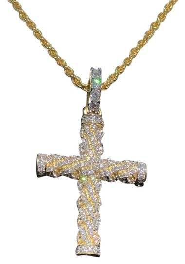 Preload https://img-static.tradesy.com/item/24899351/men-s-braided-rope-cross-1ct-cz-w-chain-1x2-pendant-14k-gold-solid-0-1-540-540.jpg