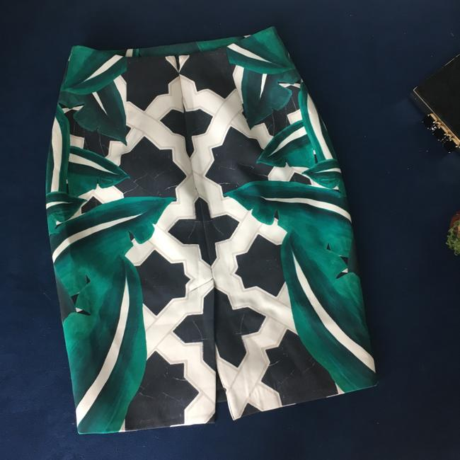 C/meo Collective Night Out Date Night Pencil Stretchy Bold Skirt Green Image 1