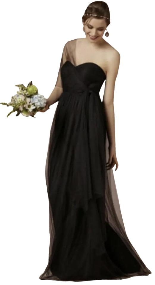 cf91e812720 Jenny Yoo Black Annabelle Convertible Tulle Bridesmaids Long Formal ...