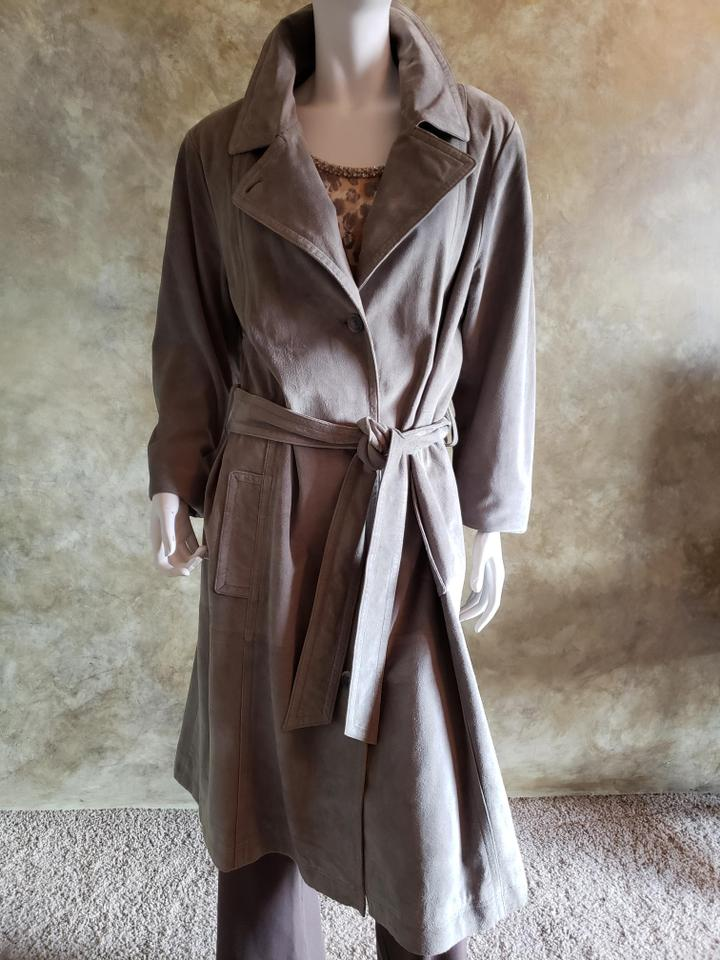 acbfbcd8ad Coldwater Creek Gray Coat Size 16 (XL