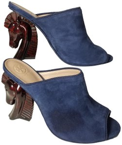 Tory Burch navy blue Mules