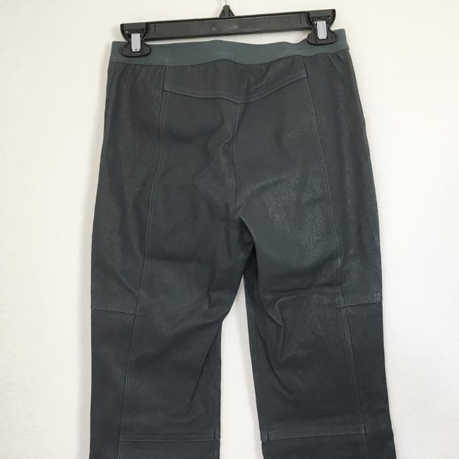Halston Genuine Leather Leather Stretch Leather Straight Pants gray Image 7