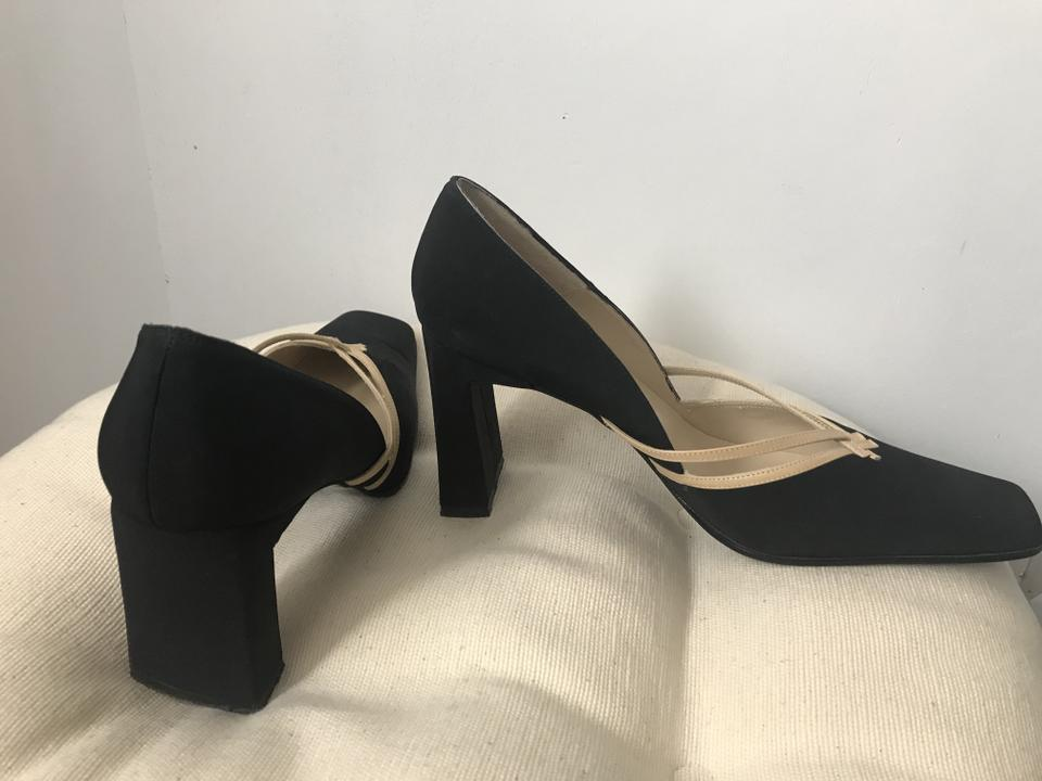 Black and Tan Vintage Pumps