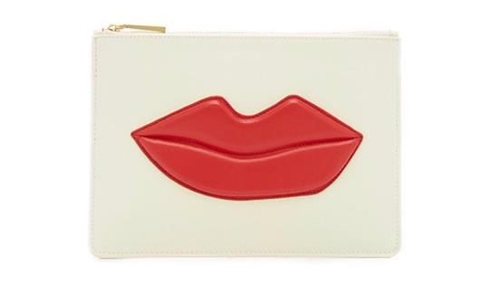 Preload https://img-static.tradesy.com/item/24899438/alice-olivia-zip-pouch-with-lip-white-red-cowhide-leather-clutch-0-0-540-540.jpg