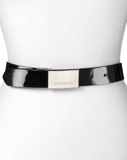Burberry House Check and Black PVC and Patent Leather Reversible Belt Image 1