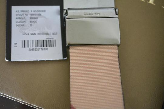 Burberry House Check and Black PVC and Patent Leather Reversible Belt Image 7