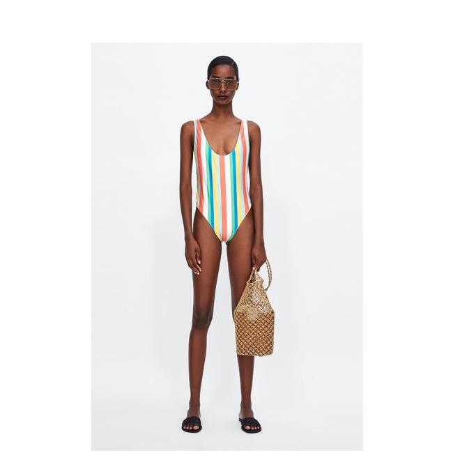 Item - New Colorful Striped Swimsuit One-piece Bathing Suit Size 4 (S)