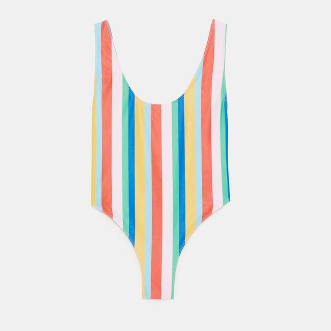 Zara new COLORFUL STRIPED SWIMSUIT Image 4