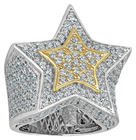 Preload https://img-static.tradesy.com/item/24899484/men-s-hip-hop-3d-star-solid-925-silver-5ct-diamond-pinky-14k-gold-ring-0-1-540-540.jpg