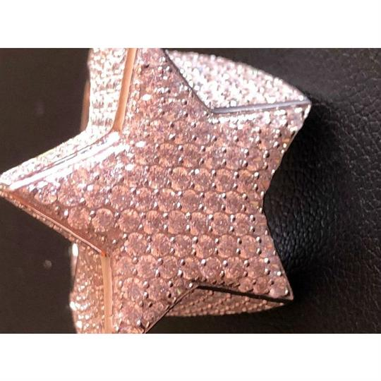 Harlembling Men's Hip Hop 3D STAR Solid 925 Silver 5ct Diamond Pinky RING 14k Gold Image 6