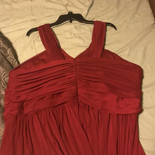 Alfred Sung Wine/Burgundy Mesh Wine/Burgundy Formal Bridesmaid/Mob Dress Size 24 (Plus 2x) Image 1