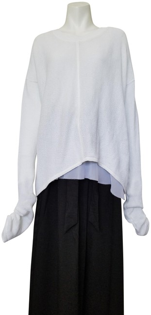 Preload https://img-static.tradesy.com/item/24899576/021913-pleated-sleeve-cotton-with-lining-white-sweater-0-1-650-650.jpg